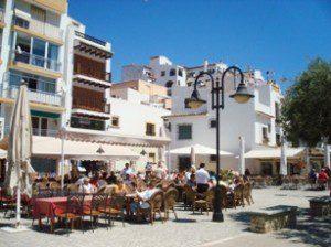 Restaurant near marina