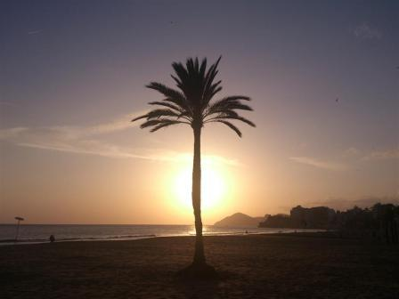 Sundown in Benidorm