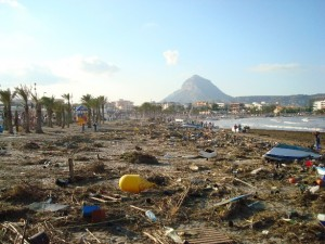 Javea beach after Gota Fria