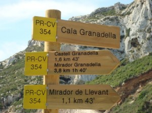 Signpost-at-Granadella-beach
