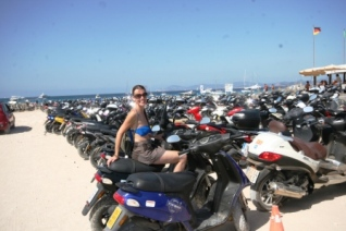 scooters-at-Illetes-beach