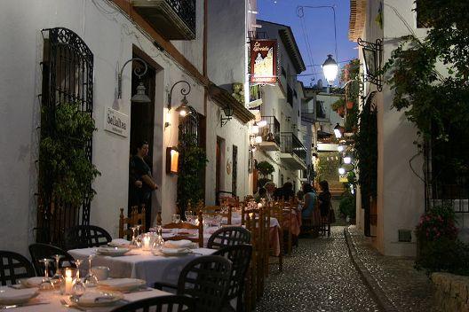 Calle típica Altea, Alicante