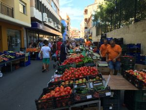 Denia, market