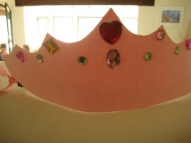 Chloe age 6 made a Princess Crown
