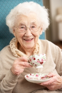 Senior-Woman-Enjoying-Cup-Of-Tea