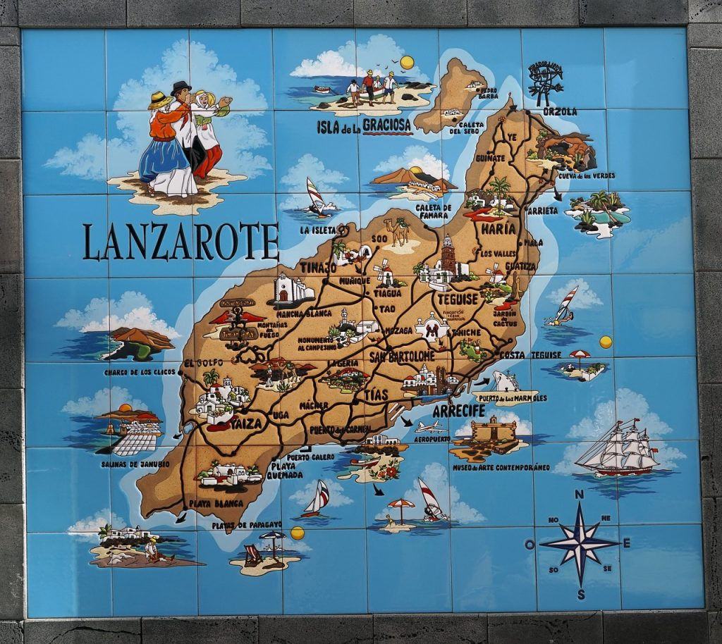 map lanzarote